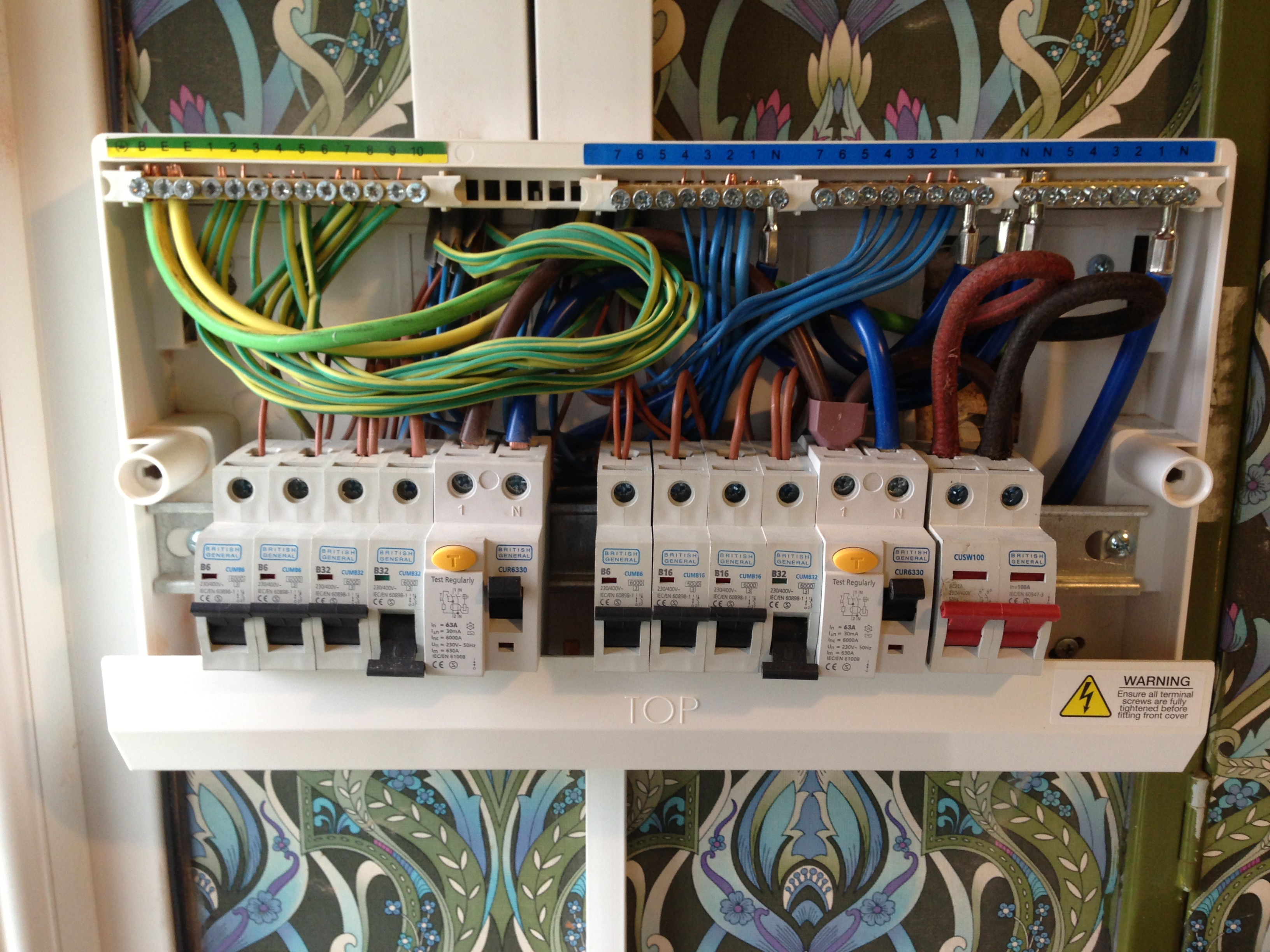New Consumer unit installation · 3 DAY COMPLETE RE-WIRE... NEVER ANY EXCUSE  FOR A MESSY FUSEBOARD